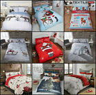 Winter & Christmas Print Duvet Quilt Cover Bedding Set and Pillowcases All Sizes