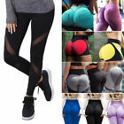 US Women Mesh Leggings Sports Yoga Gym Running Fitness Workout Pants Athletic