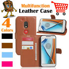 Leather Wallet Stand  Folio LSP Case Skin For Moto Motorola G4 Play / XT1607