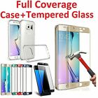 Full Cover Tempered Glass Screen Protector for Galaxy S6/S7/S8 Plus Edge/+ Case