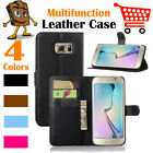 Leather Wallet Stand Folio LSP Case Cover For Samsung Galaxy S6 Edge+ / SM-G928