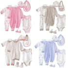 8Pcs Newborn Infant Kids Baby Boy Girl T-shirt Tops+Pants Outfits Clothes Set