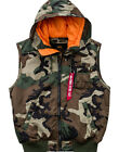Alpha Industries Weste Hooded MA-1 Vest woodland camo schwarz neu Angebot