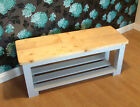 Wooden Bench Farm House Style 3 Slat Base 4' Hand Made