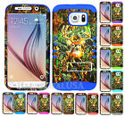 For Samsung Galaxy S6 KoolKase Hybrid Impact Silicone Cover Case CAMO MOSSY DEER
