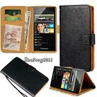 Black Flip Cover Stand Wallet Leather Case For Various BlackBerry SmartPhones