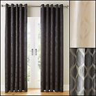 Griffin Lined Ring Top/Eyelet Curtains (Pair) - Choice Of Three Colours