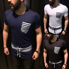 A.F.E.X D.G E&1 STAR Casual Stripes Lace Pocket Slim Fit Body Fitted Shirt