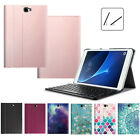 Leather Case + Bluetooth Keyboard For Samsung Galaxy Tab A 10.1 Tab E 8.0 Tab S3
