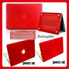 Hard Rubberized Case + Keyboard Cover For Apple MacBook 11 12 13 15 Air / Pro