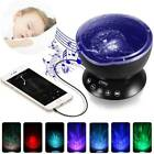 2in1 LED Ocean Wave Night Lamp Projector Relaxing Music MP3 Speaker Box +Remote