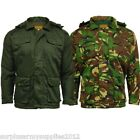 MENS PADDED SAFARI JACKET CAMOUFLAGE OLIVE COAT SMOCK S - XXL FISHING SHOOTING