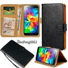 Black Flip Cover Stand Wallet Leather Case For Various Samsung Galaxy SmartPhone