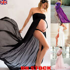 UK Pregnant Women Chiffon Maxi Dress Maternity Gown Photography Props Dress