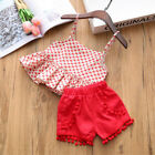 2Pcs/Set Summer Baby Girls Clothig Sleeveless Soft Printed Tops&Trousers Outfits
