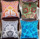 """Indian Euro Sham Cushion Cover 22"""" Square Large Decorative Throw Pillows Covers"""