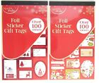 100+ Foil Christmas Gift Sticker Tags Xmas Wrapping Cute and Traditional Designs