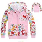 Girls Hello Kitty Pink Bows Cotton Hooded Sweat Jacket Ages 2 to 7