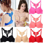 Sexy Womens Seamless Bra Front Closure Lace Racer Back Racerback Push Up Fashion