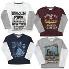 Boys Toddler Motorbike Brooklyn NY Skater Long Sleeve T-Shirt Top 2 to 6 Years