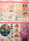 Simplicity 1083, 1084, 1131, 1237  Stuffed Animals/ Pillows/More You Pick!  NEW!