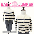 Cotton Knit Extra Soft Warm Baby Girl Toddler Jumper Sweater Cardigan Stripe