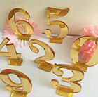 Gold Wedding Table Numbers 1-20 Birthday Baby Shower Party Table Decorations