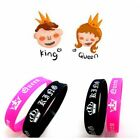 King Queen Bracelet Wristbands Couples Jewelry Wedding Xmas Present Gift Bangle