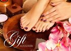 Beauty Salon Gift Voucher Manicure Nail Pedicure x 25 with Envelopes UK Post