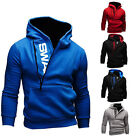 New Mens Winter Slim Warm Hooded Sweatshirt Coats Hoodie Jacket Outwear Sweater