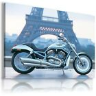 HARLEY DAVIDSON  MOTOR BIKE SILVER BLUE Large Wall Canvas Picture ART  HD22 £19.54 GBP on eBay