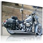 HARLEY DAVIDSON  MOTOR BIKE SILVER BLACK Large Wall Canvas Picture ART  HD27 £19.54 GBP on eBay
