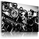 HARLEY DAVIDSON BLACK MOTOR BIKE Large Wall Canvas Picture ART  HD32 £14.44 GBP on eBay