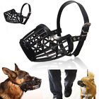 Adjustable Pet Dog Muzzle PU Leather Basket Cage Muzzle Size #1 to #7