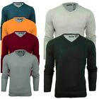 Mens Brave Soul Mens 'Quazar' Knitted V-Neck Neck Jumper Sweater Top