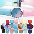 Women Round Alloy Analog Buckle Quartz Battery Contrast Color Watch K0E1