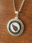 STERLING SILVER ROPE PENDANT W/ NFL ARIZONA CARDINALS b SETTING JEWELRY GIFT on eBay
