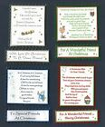 4 Friend(s) Christmas Greeting Card Craft Verse Toppers W/WO Matching Sentiments