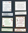 4 MUM AND Or DAD Christmas Card Greeting Verse Toppers W/WO Matching Sentiments