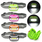 Headlight Waterproof 600LM COB 3W LED Light Outdoor Cycling Head Lamp 3 Modes