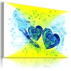 HEART ABSTRACT MODERN CANVAS WALL ART PICTURE LARGE SIZES AZ17 X