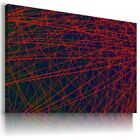 LINES LIGHTS ABSTRACT MODERN CANVAS WALL ART PICTURE LARGE SIZES AZ53 X