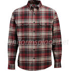 Wolverine Shirt Mens Redwood Heavyweight Long Sleeve Flannel Button-down Shirts
