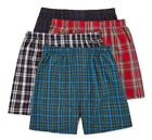 Stafford 4-Pack Men's 100% Cotton Woven Boxers Tartan Plaids
