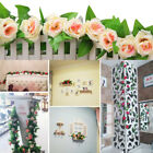 Fake Artificial Ivy Vine Silk Rose Flowers Hanging Wedding Home Party Room Decor