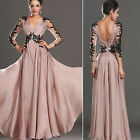 Women Formal V Bridesmaid Ball Prom Evening Party Cocktail Long Maxi Dress New