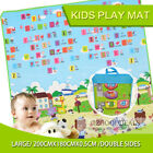 New 2x1.8m or 3x1.8m 20mm Thick Large Baby Play Mat Double Sided Animal Alphabet <br/> 5% off may apply! Use PENNY5 in checkout. T&amp;Cs apply.
