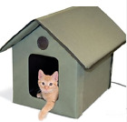 Waterproof Cat Shelter Insulated Feral Outdoor Unheated Heated Kitty House