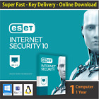ESET Internet Security 2018  1 or 3 or 5 PCs   1 Year- License in eBay Message
