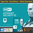 ESET Internet Security 2018, 1 or 3 or 5 PCs / 1 Year- License in eBay Message